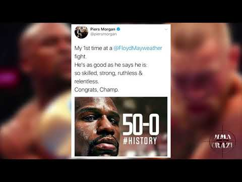 Celebs & UFC Fighters React to Conor McGregor loss to Floyd Mayweather via TKO