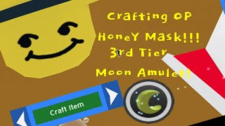 Crafting The OP Honey Mask!!! 3rd Tier Moon Amulet!- ROBLOX BSS