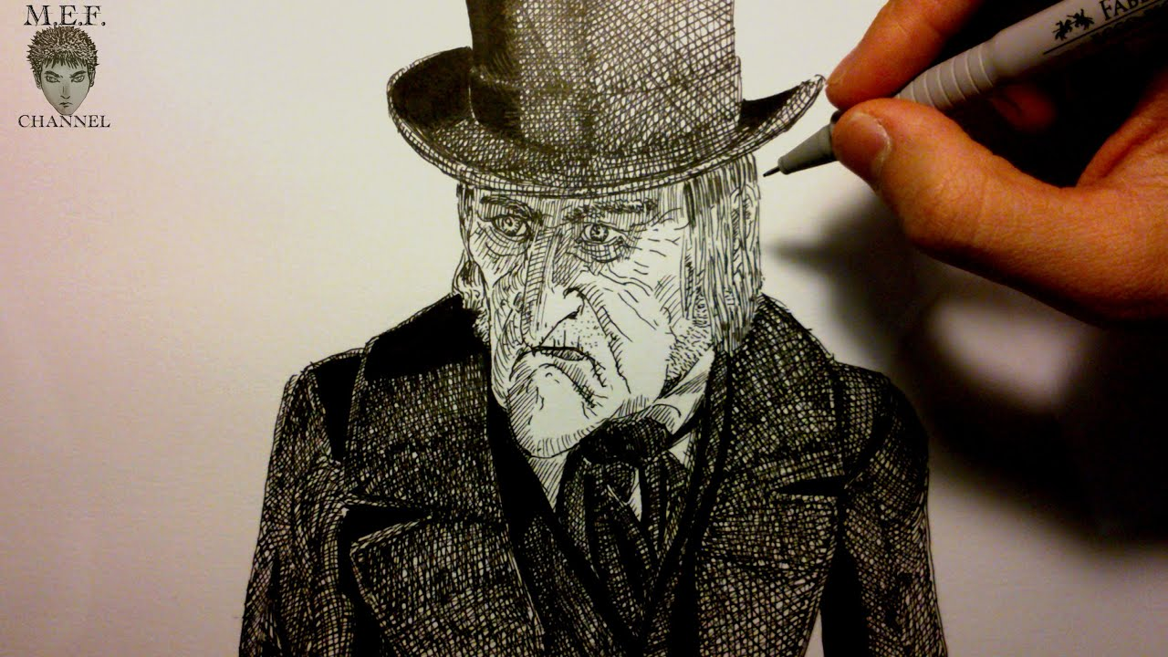 A Christmas Carol Scrooge Drawing Easy.Let S Draw Ebenezer Scrooge