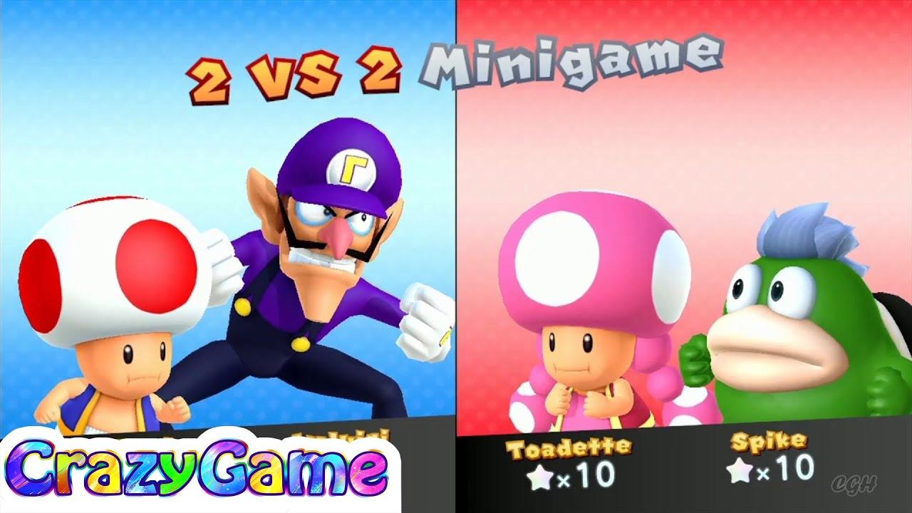 Mario Party 10 Mario Party - Toad vs Toadette vs Waluigi ...