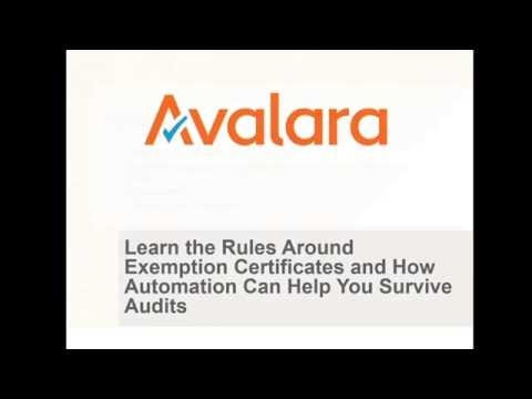 Learn the Rules Around Exemption Certificates and How Automation Can Help You Survive Audits