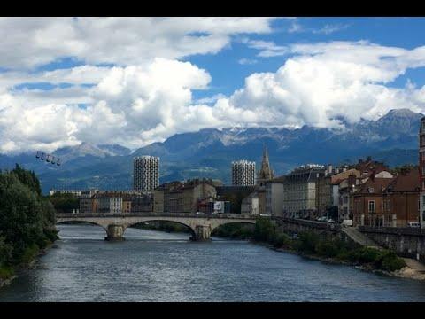 Grenoble - French Alps & Fort de Bastille walking tour HD 2017