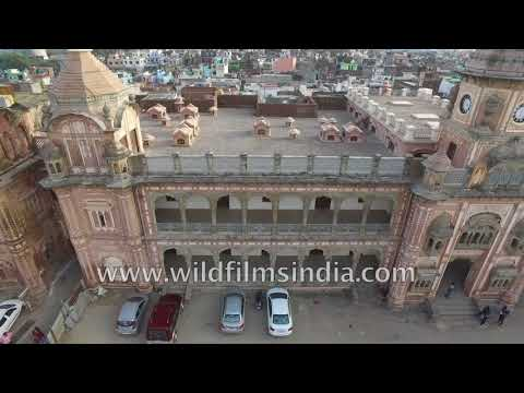 Jammu city and Tawi river: aerial journey