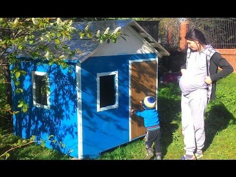 Строительство домика для ребенка своими руками.