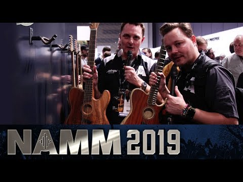 Lee and Pete walk through the Fender stand - NAMM 2019