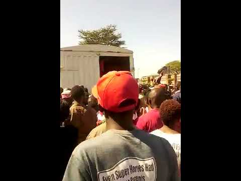 Kenyans ambush Daily Nation Newspaper lorry after Jamhuri....