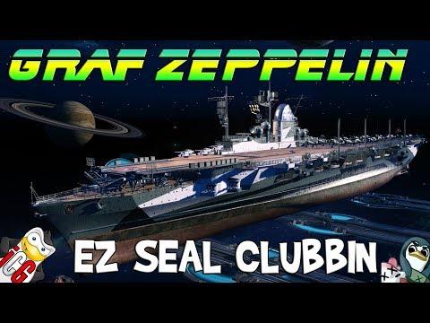 World of Warships - Graf Zeppelin - EZ Seal Clubbin