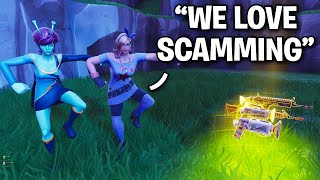 Two insanely WEIRD scammers try scamming me!! 😂 (Scammer Get Scammed) Fortnite Save The World