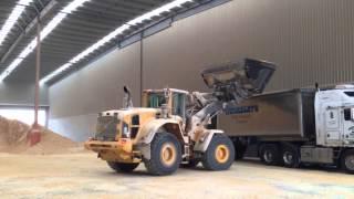 Volvo L150G Front End Loader truck loading