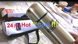 24hr hot or cool 1000ml thermosteel flip lid flask Milton