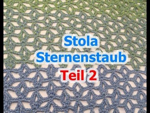 Stola Sternenstaub häkeln mit Woolly Hugs BOBBEL-COTTON mit Veronika ...