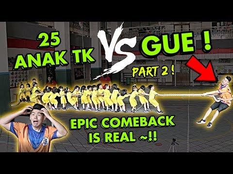 PART-2 ! NANTANG TARIK TAMBANG 1 Orang Dewasa VS 25 Anak TK !!! SERU BANGET !!