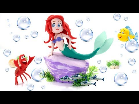 Princess Ariel The Little Mermaid Play Doh Cartoons & Stop Motion Movie