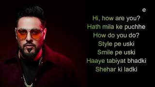 #SheherKiLadki #KhandaaniShafakhana Sheher Ki Ladki Song | Khandaani Shafakhana | Baadsha[ LYRICS]