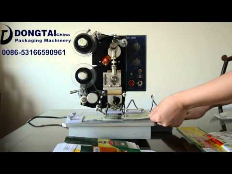 JINAN DONGTAI hot stamping date coder hot ribbon coder machine date, automatic coding machine