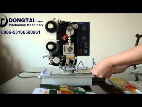 JINAN DONGTAI hot stamping date coder hot ribbon coder machine date, automatic coding machine