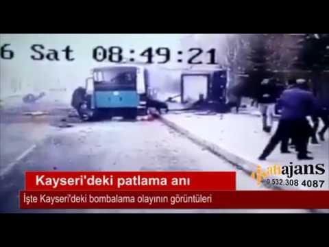 İşte Kayseri'deki patlama anı