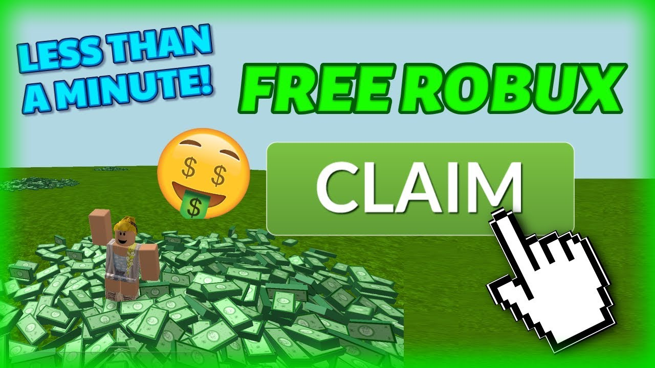 HOW TO GET FREE ROBUX IN LESS THAN 1 MINUTE! **Not ...