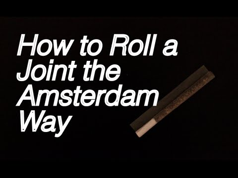 How to roll a Joint the Amsterdam way - Inside Out Method: Professional Tutorial