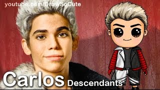 How to Draw Carlos from Disney Descendants Cute step by step
