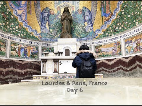 Walking Tour of Lourdes. Hitchin' with Strangers. My Cool Apartment in Paris ( Day 6)