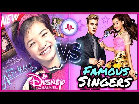 Andi Mack VS Famous Singers Musically Battle  Disney Andi Mack & Celebrity Stars Musically 2017