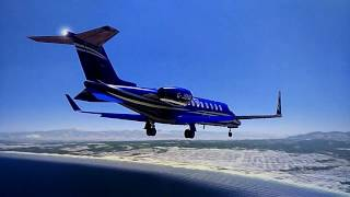 Aerofly FS 2 (IPACS) - Learjet 45 landing at Monterey Airport CA [incredible realism]