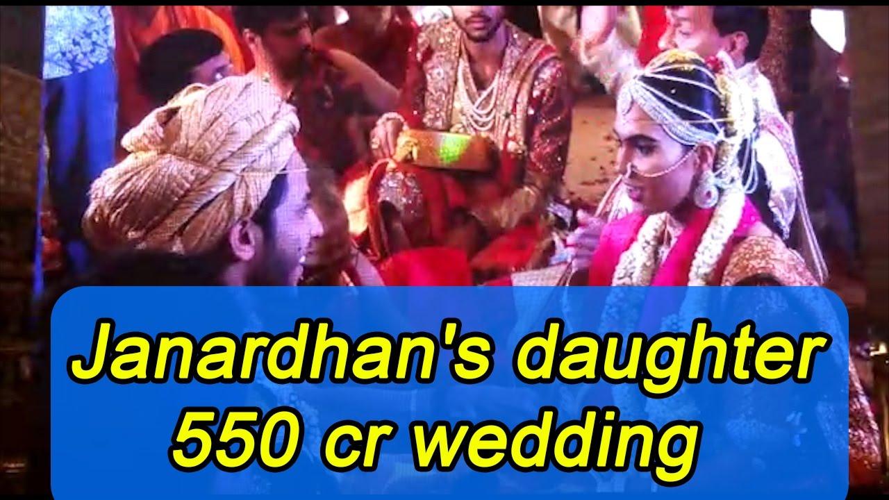 janardhan reddy s daughter lavish wedding estimates rs 550cr watch