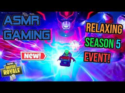 😴 NEW Fortnite Season 5 Galactus Event! Relaxing ASMR Gaming 🎧🎮 Controller Sounds + Whispering 💤