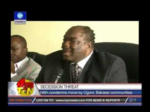 NBA president condemns Ogoni, Bakassi secession plot