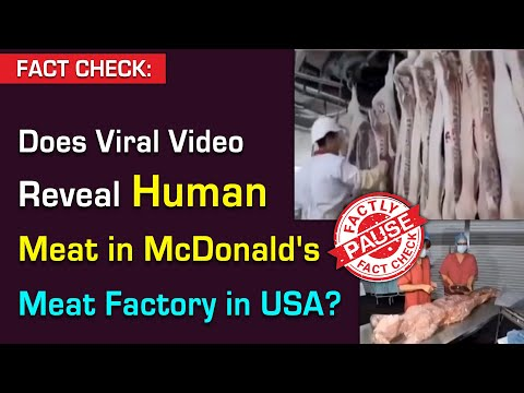 FACT CHECK: Does Viral Video Reveal Human Meat in McDonald's Meat Factory in USA?