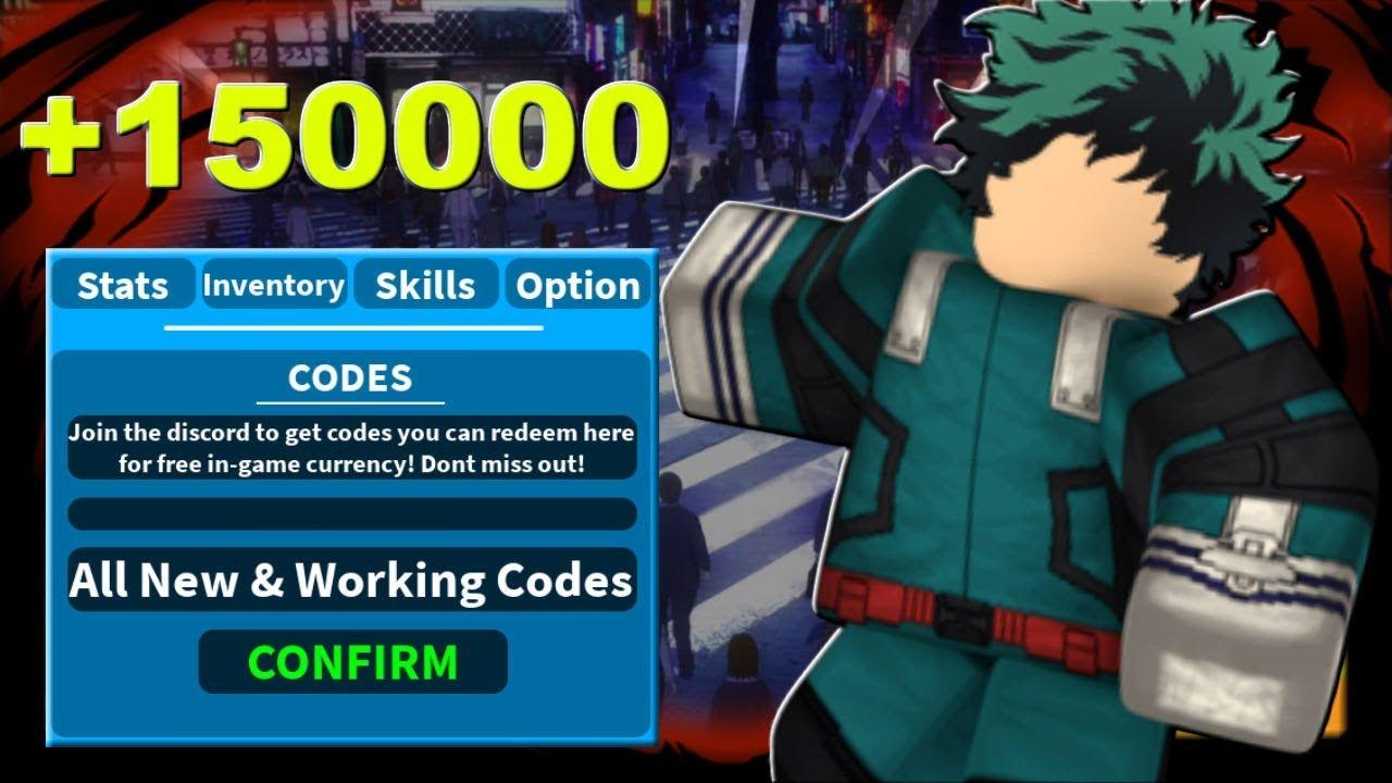 Roblox My Hero Academia Codes | StrucidCodes.com