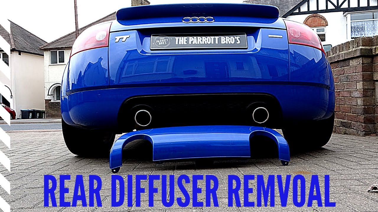 Rear diffuser removal and refitting - YouTube