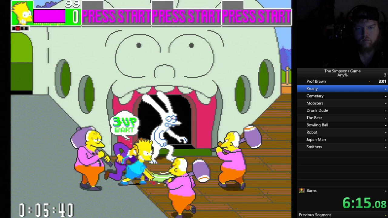the simpsons arcade usa rom expert world record speedrun any 39