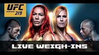 Video UFC 219 Weigh-Ins: Cyborg vs Holm (Ceremonial) — LIVE download MP3, 3GP, MP4, WEBM, AVI, FLV September 2018