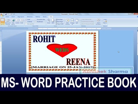 Exercise 04 | Ms Word Practice Book | How To Make Marriage Pamphlet Ms Word thumbnail
