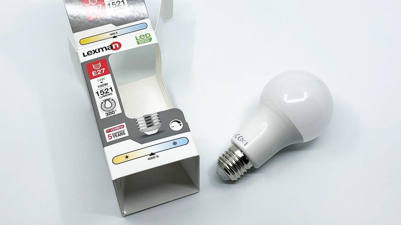 Lexman Led Light Bulb 14w 100w 1521lm E27 4000k 3004k