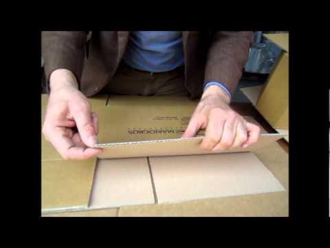 La scatola di cartone youtube for Foderare una scatola