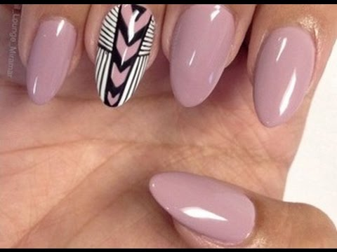 Oval Nails With French Tip