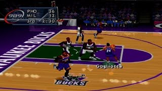 NBA ShootOut 2000 Gameplay Exhibition Mode (PlayStation)