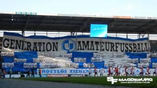 Choreografie 1. FC MAGDEBURG - Energie Cottbus II 1:1 (1:0) - www.sportfotos-md.de