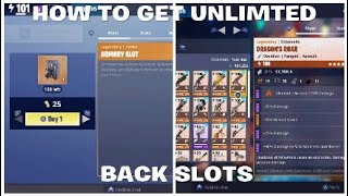 HOW TO GET BACKPACK AND INVENTORY SLOTS FORTNITE SAVE THE WORLD