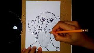 How to draw an elephant- como dibujar un Elefante 2