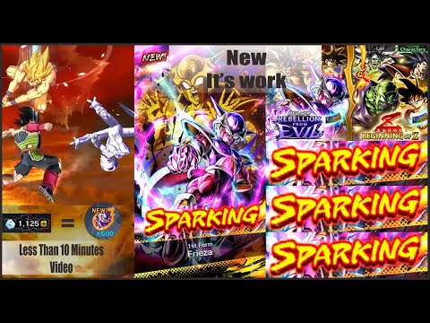 Summon Tricks Guaranteed Sparking Legends Limited Character LF Frieza   Dragon Ball Legends