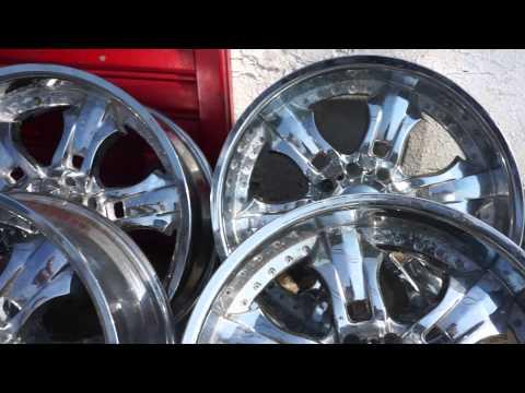 22' Chrome rims 8 lug C & L Tires