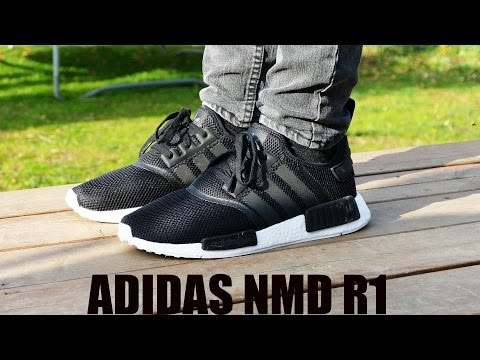 buy popular 01839 07162 Adidas NMD R1 (Black / Core Black / White) - On Feet - YouTube