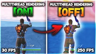 How to *FIX* FPS DROPS & Disable Multi-thread Rendering in Fortnite Season 9! (-NoRHIThread)