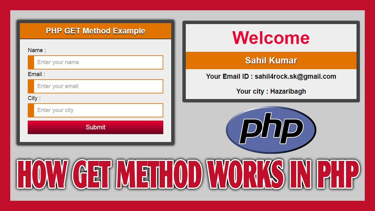 How GET Method Works in PHP | How To Show Submitted Form Data On ...
