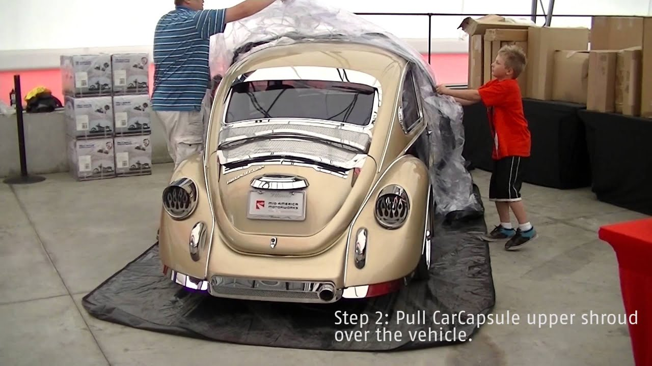 carcapsule storage for volkswagen beetle youtube. Black Bedroom Furniture Sets. Home Design Ideas