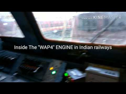 """Inside View of """"WAP 4"""" Engine with detailed & learn how to drive WAP 4"""
